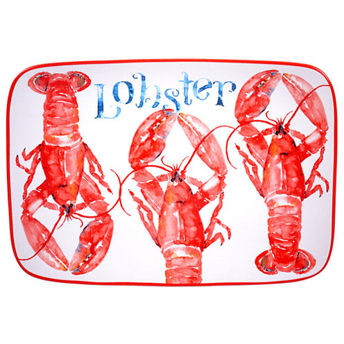 Certified International Beach House Kitchen Lobster Rectangle Platter