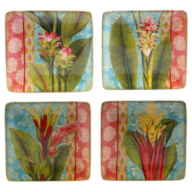 jcpenney.com | Certified International Tropics Set of 4 Canapé Plates