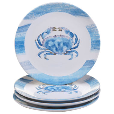 jcpenney.com | Certified International Beach House Kitchen Set of 4 Crab Dinner Plates