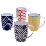 Certified International Mix And Match Chelsea Set of 4 Mugs