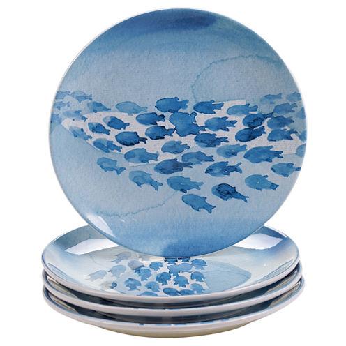 Certified International Sea Life Set Of 4 Dinner Plates