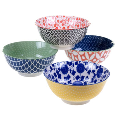 jcpenney.com | Certified International Mix And Match Chelsea Set of 4 Bowls