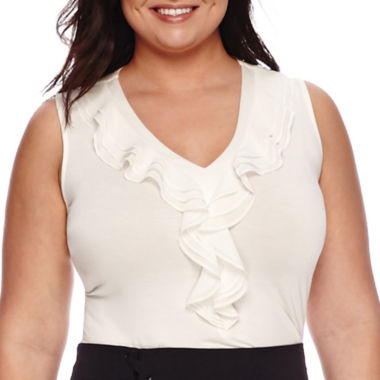 jcpenney.com | Worthington® Ruffled Tank Top - Plus