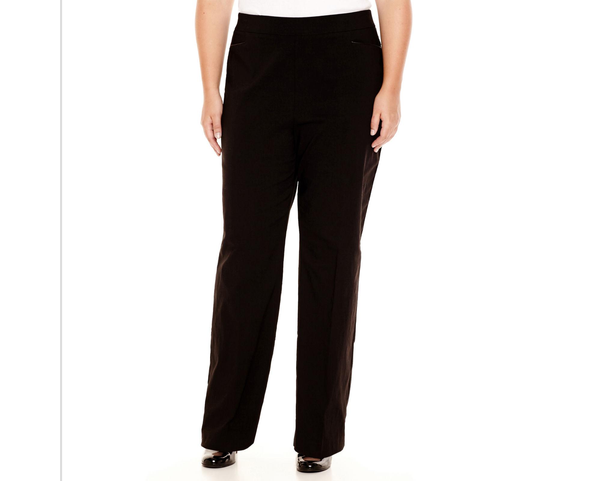 Worthington Pull-On Slim Pants - Plus