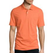 St. John's Bay® Short-Sleeve Jersey Pocket Polo Shirt