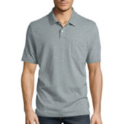 St. John's Bay® Short-Sleeve Jersey Pocket Polo Shirt
