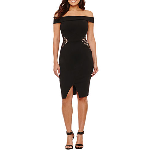 Bisou Bisou Off the Shoulder Sheath Dress