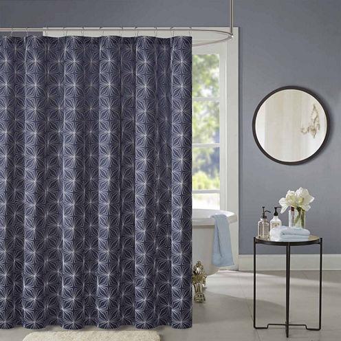 Madison Park Jordan Embroidered Shower Curtain