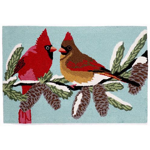 Liora Manne Frontporch Cardinals Hand Tufted Rectangular Rugs