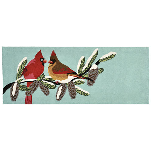 Liora Manne Frontporch Cardinals Hand Tufted Rectangular Runner