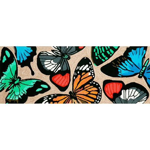Liora Manne Frontporch Butterfly Dance Hand Tufted Rectangular Runner