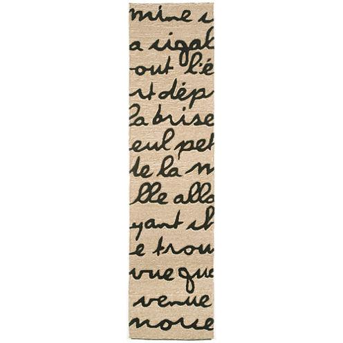 Liora Manne Spello Poem Hand Tufted Rectangular Runner