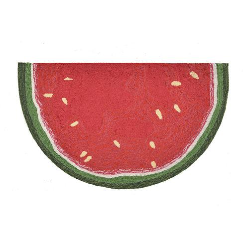 Liora Manne Frontporch Watermelon Slice Hand Tufted Wedge Rugs
