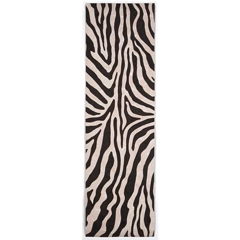 Liora Manne Visions I Zebra Rectangular Runner