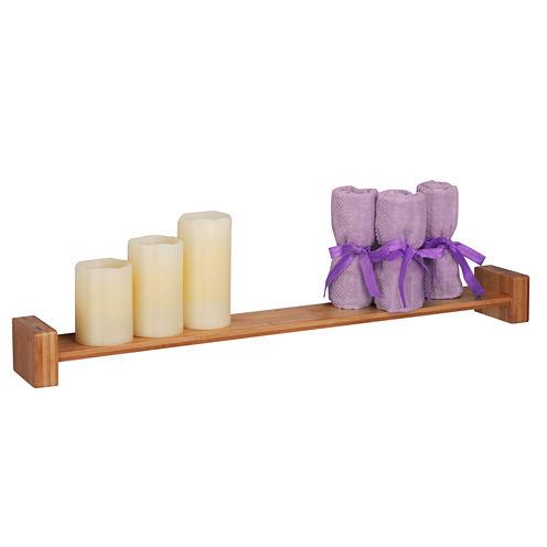 Honey-Can-Do Large Bamboo H Wall Shelf