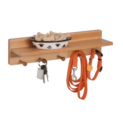 Honey-Can-Do Bamboo Wall Shelf With 5 Pegs - JCPenney