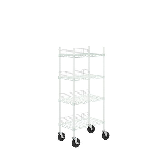 Honey-Can-Do 4-Tier Steel Shelving Unit With SideScreens & Casters