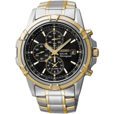 jcpenney.com | Seiko® Mens Two-Tone Brown Dial Chronograph Watch SSC142