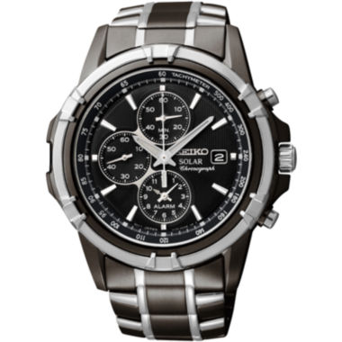 jcpenney.com | Seiko® Mens Black Chronograph Watch SSC143