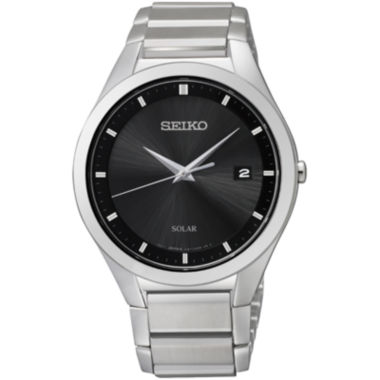 jcpenney.com | Seiko® Mens Silver-Tone Diamond-Accent Watch SNE241