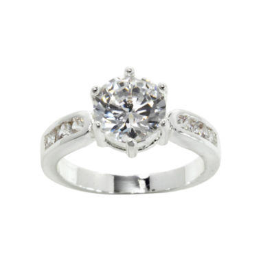 jcpenney.com | city x city® Pure Silver-Plated Cubic Zirconia Solitaire Ring