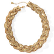Monet® Gold-Tone Large Braided Collar Necklace
