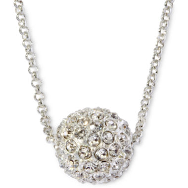 jcpenney.com | Monet® Silver-Tone Crystal Fireball Pendant Necklace