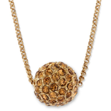 jcpenney.com | Monet® Gold-Tone Fireball Pendant Necklace