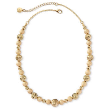 jcpenney.com | Monet® Gold-Tone Beaded Collar Necklace