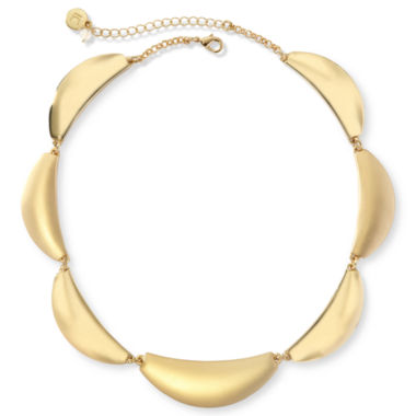jcpenney.com | Liz Claiborne® Gold-Tone Scalloped Collar Necklace