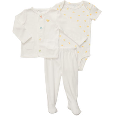jcpenney.com | Carter's® 3-pc. Footed Cardigan Set - newborn-9m