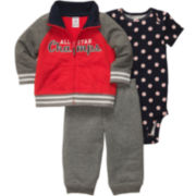 Carter's® 3-pc. Cardigan Set - Boys newborn-24m