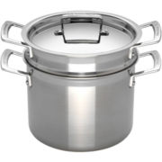Le Creuset® 7½-qt. Tri-Ply Stainless Steel Pasta Pot + Insert