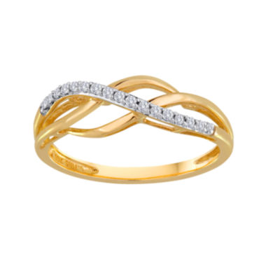 jcpenney.com | 1/10 CT. T.W. Diamond 10K Yellow Gold Swirl Ring