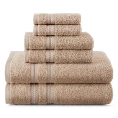 solid bath towel set