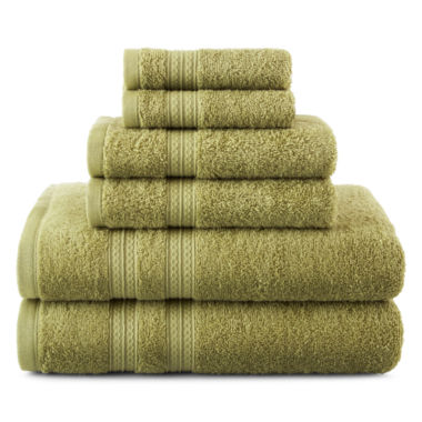 jcpenney.com | Home Expressions™ 6-pc. Solid Bath Towel Set
