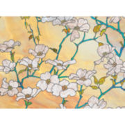 Dogwood Blossom Premium Privacy Window Decal