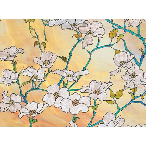 Brewster Wall Dogwood Blossom Premium Privacy Window Decal