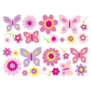 Flowers and Butterflies Wall Decals