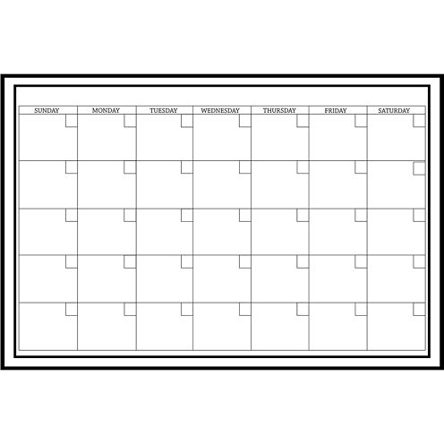 Large White Monthly Calendar Dry-Erase Wall Decal