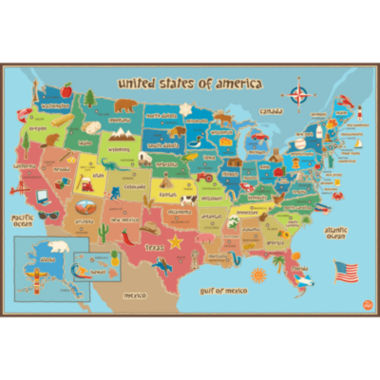 jcpenney.com | Kids USA Map Dry-Erase Wall Decal