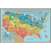 Kids USA Map Dry-Erase Wall Decal