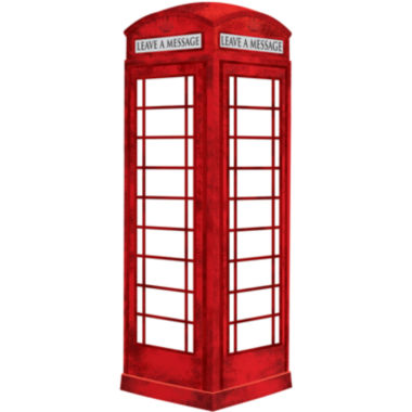 jcpenney.com | London Phone Booth Giant Dry-Erase Wall Decal