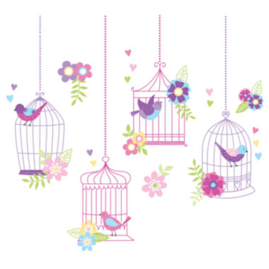 jcpenney.com | Chirping the Day Away Birdcages Wall Decals