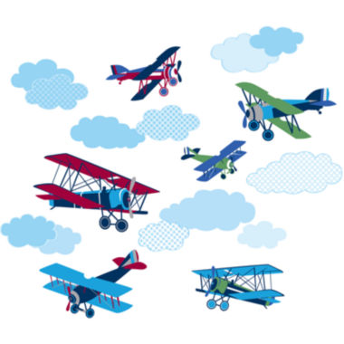 jcpenney.com | Mighty Vintage Planes Wall Decals