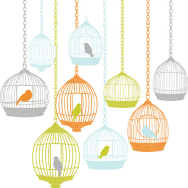 jcpenney.com | St. Tropez Large Birdcage Wall Decals
