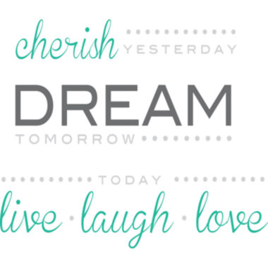 jcpenney.com | Cherish, Dream, Live Wall Decal