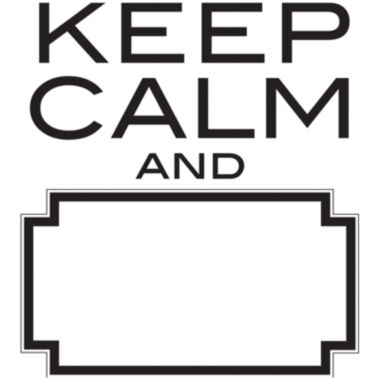 jcpenney.com | Keep Calm Dry-Erase Wall Decal