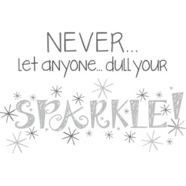 jcpenney.com | Never Dull Your Sparkle Wall Decal