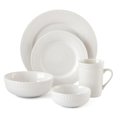 Jcpenney Home Bead 40 Pc Dinnerware Set